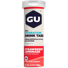 GU Energy Hydration Drink Tabs 12 Pieces, Strawberry Lemonade